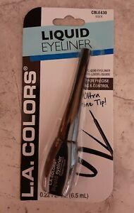 L.A. COLORS Liquid Eyeliner Ultra Fine Tip BLACK Long Lasting Wear Precise Line