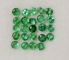 0.67 Cts Natural Emerald Round Cut 2 mm Lot 24 Pcs Untreated Loose Gemstones