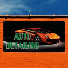 Vinyl Banner Sign Auto Detailing #7 Automotive Car Marketing Advertising Black