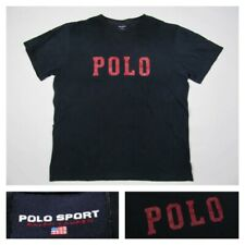Vintage Polo Sport Ralph Lauren Navy Spell Out T-Shirt Shirt USA 90s Mens Large