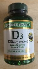 Nature's Bounty Vitamin D3 Suppliments (5000IU) - 400 Rapid Release Softgels