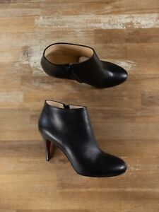 $945 CHRISTIAN LOUBOUTIN Belle 85 black leather ankle boots - 6.5 US / 36.5 EU