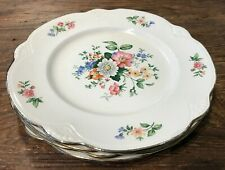 HOMER LAUGHLIN SPRINGTIME VINT 40'S MARIGOLD #W245 SET OF 4 LUNCHEON PLATES GUC
