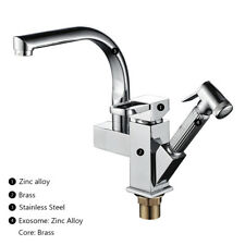 Pull Out 360° Swivel Kitchen Mixer Taps Monobloc Faucet Spray Bidet Head Tap New