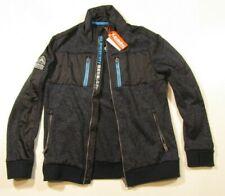 Superdry Men's Fjord Blue Heather Full Zip Storm Track Top Jacket