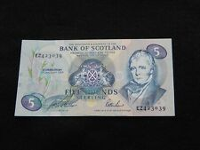 More details for bank of scotland £5 banknote from  1994 - ez prefix