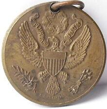 Médaille sceau USA Eagle aigle seal adoremus Pax c1920 AJ Corbierre 22mm Medal