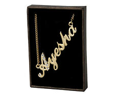 """Name Necklace """"AYESHA"""" - 18ct Gold Plated - Made With Swarovski Elements - Gift"""