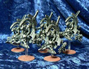 Warhammer 40k Necron 5x Tomb Blades Assembled Base Painted