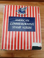 Vintage American Commemorative Stamp Album - From 1893 onwards - 353 Stamps