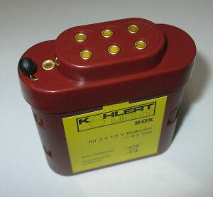 Kahlert 60897 Batteriebox mit Kappe für 3x1,5 Volt Batterien   *NEU/OVP*