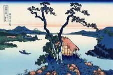 Katsushika Hokusai Lake Suwa Art Print POSTER A3 Japanese wall art Oriental deco
