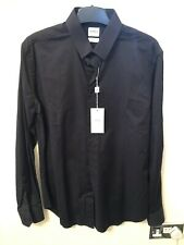 Armani Collezioni Black Slim Fit Shirt- Size 39- Brand New With Tags