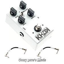 KHDK No. 2 Kirk Hammett Clean Boost Guitar Handmand Pedal w/2 Free Patch Cables
