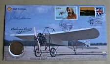 LOUIS BLERIOT 100TH 2009  BUCKINGHAM COIN COVER SIGNED BY CARLSON & VAN HOORN