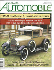 Collectible Automobile Magazine Month Year Vol 18 - No 4