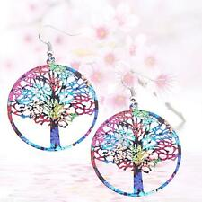 Bohemian Round Drop Dangle Earrings Lucky Tree Stud Fashion Jewelry Colorful UP