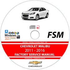 Chevrolet Malibu 2011 2012 2013 2014 2015 2016 Service Repair Manual on CD