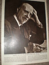 Photo article conductor composer Sir Thomas Beecham 1955 ref Z