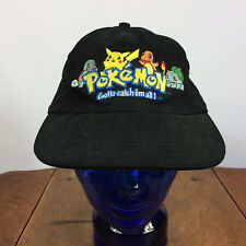 Vintage Pokemon Strap Back Hat Cap Video Game Cartoon 1990s Pikachu Nintendo