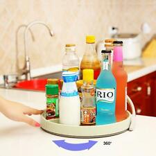 Spice Turntable Lazy Susan Organizer Kitchen Rack Cabinet Storage Round Beverage