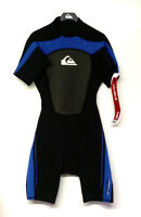 QUIKSILVER Men's 2/2 SYNCRO BZ S/S Springsuit - BLK/BLU - Small - NWT