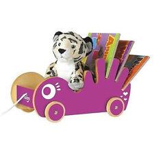 NIB Pkolino P'kolino Book Buggee Pull Toy Book Buggy Purple