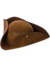 Adult Mens Ladies Felt Tricorn Cap Pirate Captain Jack Fancy Dress Caribbean Hat