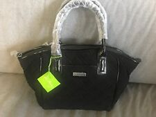 Vera Bradley Classic Black Trimmed Satchel Tote Purse NEW #14241-081481