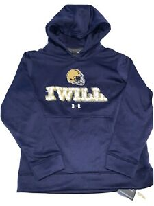NOTRE DAME FIGHTING IRISH FOOTBALL HOODIE YOUTH SMALL UNDER ARMOUR SWEATSHIRT