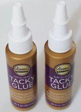 Lot of 2 Aleene's Original Tacky Glue .66 fl Oz.- 24355 [B31]