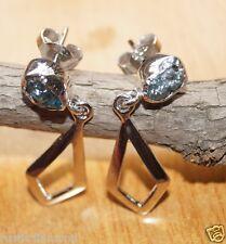 1.20 TCW NATURAL ROUGH DIAMOND EARRING RAW RUSTIC DIAMOND UNCUT DIAMOND EARRING