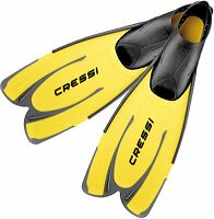 Cressi AGUA Adult Long Fins for Swimming & Snorkeling - Made in Italy