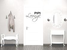 Türaufkleber Muro Tatuaggio Porta verdetto di decorazione scritta pipì Lounge WC Toilette