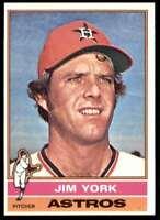 1976 Topps Baseball Jim York Houston Astros #224