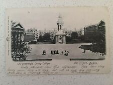 Postcard  Trinity College Dublin  The Quadrangle  Dublin Postmark 1902