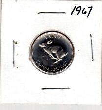 CANADA COIN 5c  1967  RABBIT DESIGN, CENTENNIAL NICKEL, IN EXCELLENT CONDITION