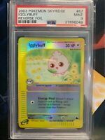 Pokemon PSA 9 MINT 2003 Reverse Holo Igglybuff Skyridge 67/144 WOTC