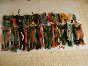 VINTAGE  TAPESTRY EMBROIDERY COTTON WOOL  ANCHOR CLARKS  SKEINS JOB LOT