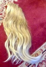"""Clip on claw ponytail hair extension great quality thick 18"""" approx blonde new"""