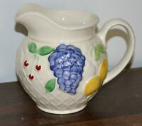 Vintage Wade Fruit Basket White & Multicoloured Large Water Jug 14cm High