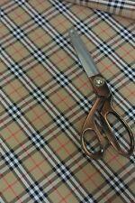 3m Original Burberry cotton nova tartan fabric ideal for trench coats 150cm wide