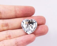 Large Shiny Heart Buttons Silver Two Hole Heart-shaped Acrylic Coat 18mm 50pcs