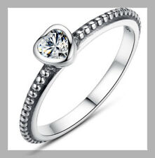 Silver Plated Cubic Zirconia Simulated Costume Rings