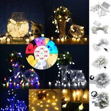 1m-10m Bombilla LED Bolas Cuerda Guirnalda de Luces Navidad Decoración Hogar