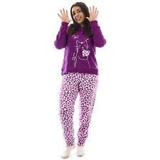 Pigiama  tuta donna homewear  invernale  in  pile con polsino  gatto  0DIPIG114