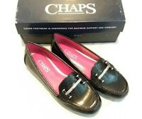 NEW CHAPS Connie Women's Casual Comfort Loafers Slip On Shoes Black sz 6