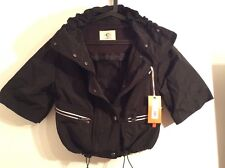 BNWT 100% Auth Cerutti, Ladies Stunning Black Cropped / Short Jacket. 10