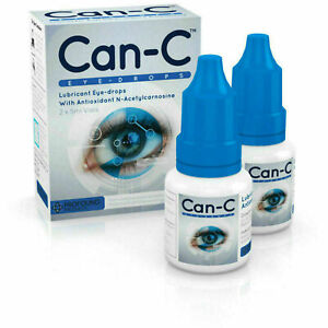 Can-C Eye Drops 2 x 5ml Lubricant Eye Drop with Antioxident N- Acetylcarnosine