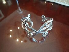 EXCITING STERLING SILVER CUFF BRACELET--925--